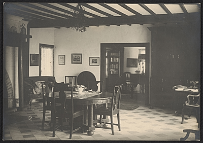[Interior of Edgewood; the Tanner home in Trepied, France]