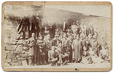 [Bishop Benjamin Tanner and others at Pike's Peak Railway]