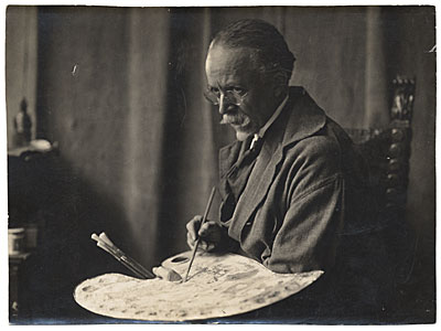 Henry Ossawa Tanner with a palette