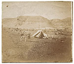Tent of Henry Tanner and Sandor Landeau in Palestine