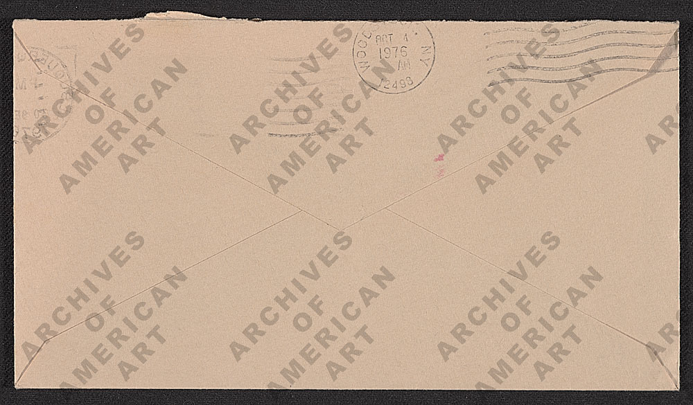 Image for envelope verso 2
