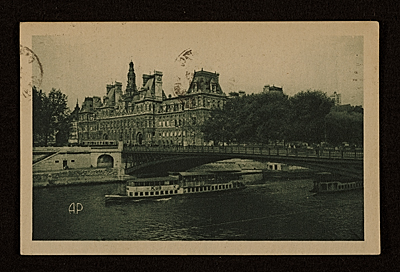 Aaron Copeland, Paris, France postcard to Prentiss Taylor, Saratoga Springs, N.Y.