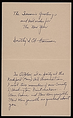 [Dorothy Harrison christmas card to Prentiss Taylor verso 1]