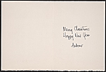 [Andrew A. Bucci Christmas card to Prentiss Taylor inside 1]