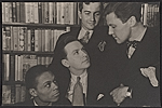 Prentiss Taylor with Jimmie Daniels, Donald Angus, and Tonis Selmart