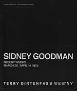 Terry Dintenfass exhibition announcement for Sidney Goodman: Recent works