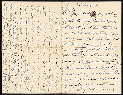 Abbott Handerson Thayer letter to Emma Beach