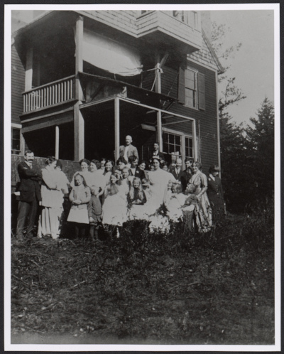 Gerald H. Thayer and Alma Wollermans wedding in Dublin, New Hampshire