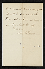 [Mary Thayer letter to unidentified recipient 1]