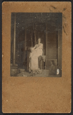 Bessie Price posing for Abbott Handerson Thayer's painting Stevenson memorial