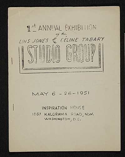 [1st Annual Exhibition of the Lois Jones and Celine Tabary Studio Group]
