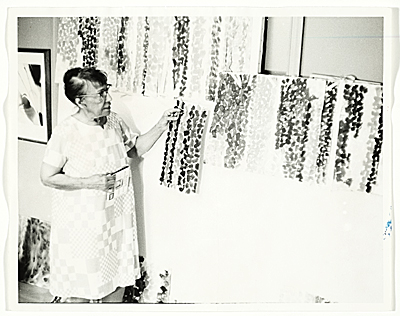 [Alma Thomas in her studio]