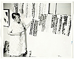 [Alma Thomas in her studio ]