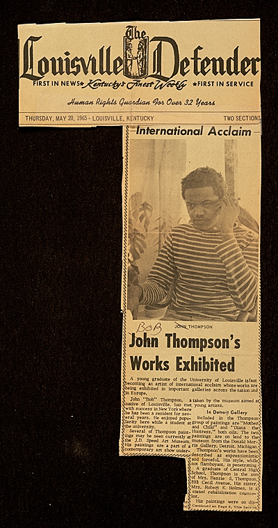 "[""International Acclaim, John Thompson's Works Exhibited""]"