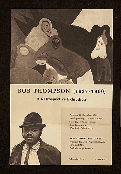 """Bob Thompson (1937-1966) A Retrospective Exhibition"""