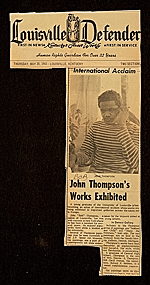 """International Acclaim, John Thompson's Works Exhibited"""