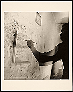 Bob Thompson at work in his studio