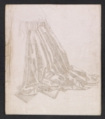 A drapery study done in metalpoint