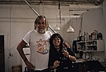 John Baldessari and Morgan Thomas in Baldessaris studio