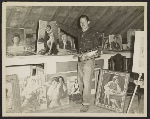 Morton Traylor in his studio