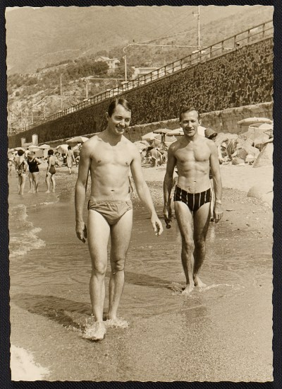 Jock Truman and Eric Green at the beach