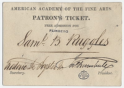 [Ticket to the American Academy of the Fine Arts]