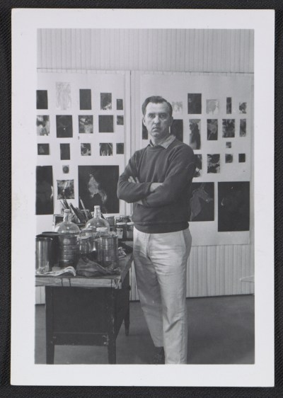 [Stanley Twardowicz in his Northport, Long Island studio]