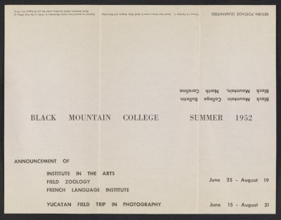 Black Mountain College bulletin