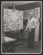 Jack Tworkov in his Fourth Ave. studio