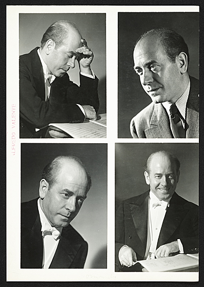 Arbit Blatas with Eugene Ormandy photos on verso
