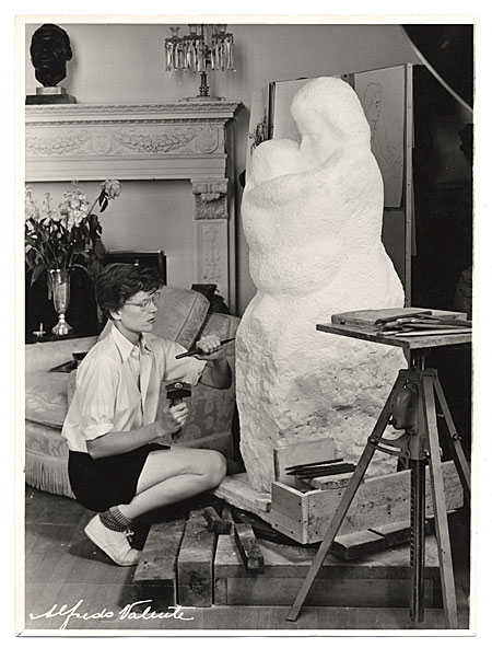 Sally Ryan at work in her studio