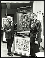George Grosz with Alfredo Valente