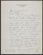 Louis M. (Louis Michel) Eilshemius, New York, N.Y. letter to Peggy Guggenheim