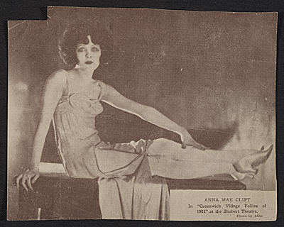 Anna Mae Clift in Greenwich Village Follies of 1921 at the Shubert Theatre