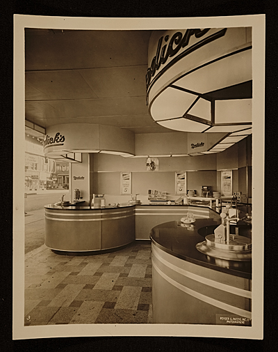 Nedicks diner designed by John Vasso.  Interior view