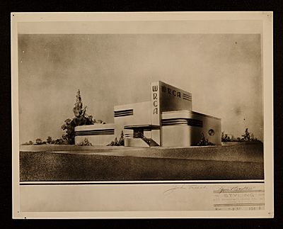 Radio Corporation of America transmitter building designed by John Vassos