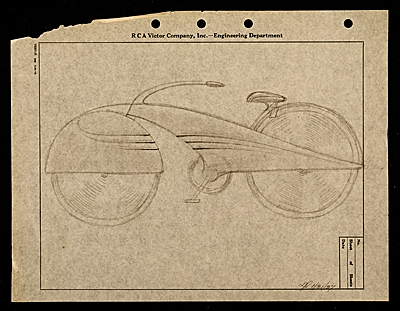Aero bike designed by John Vassos