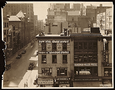 Exterior view of John Vassos first company, the New York Display Service