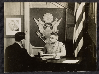 Major John Vassos, Chief Training Officer for the Middle East Theatre for the OSS