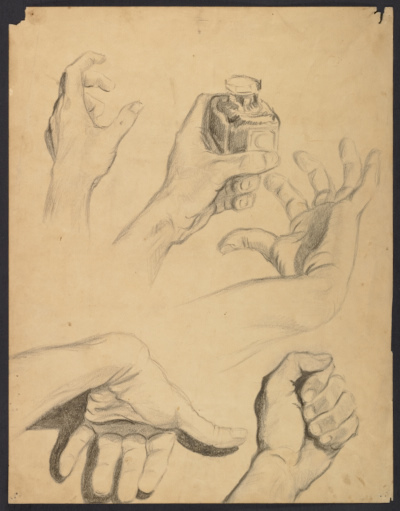 Sketches of hands
