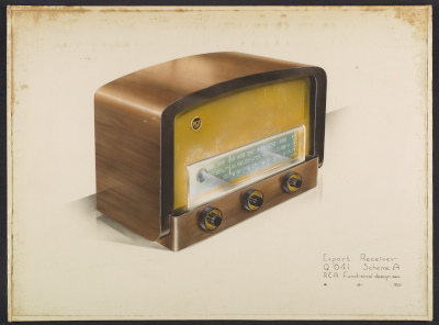[Concept drawing for an RCA Export Receiver]