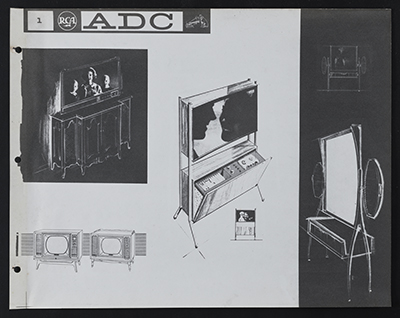 [Concept sketches for the Advanced Design Center at the Radio Corporation of America]