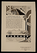 Tear sheet: Ad designed by John Vassos for Packard motor cars