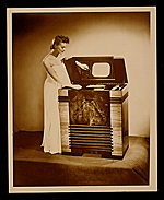 Publicity photograph for a television designed by John Vassos