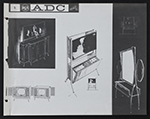 [Concept sketches for the Advanced Design Center at the Radio Corporation of America page 2]