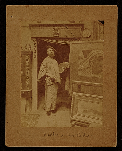 Elihu Vedder in his studio