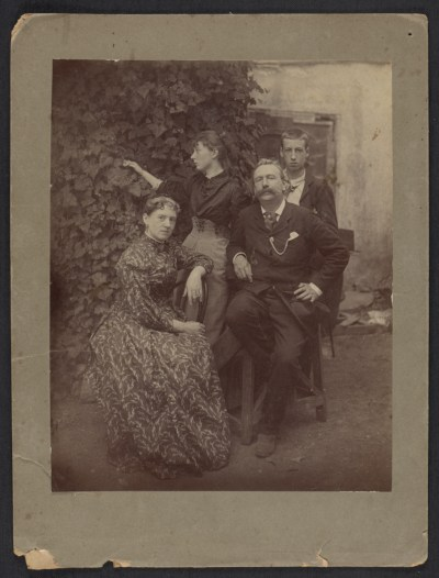 Elihu Vedder and family