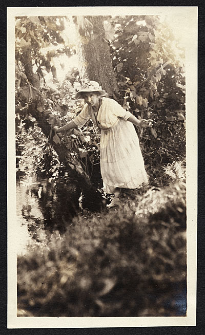 Bessie Potter Vonnoh by a pond