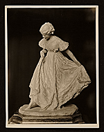 Plaster sculpture of a dancing girl by Bessie Potter Vonnoh