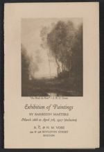 Exhibition of paintings by Barbizon Masters
